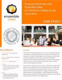 Case Study - Syracuse University College of Law